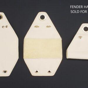 Bernadette fender hanger with text